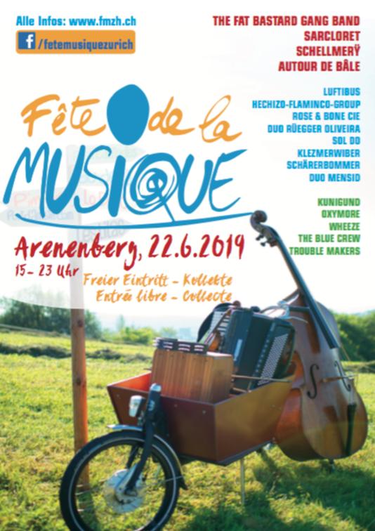 Fête de la musique à Zurich le 22juin de 15h à 23h au châtau d'Arenenberg